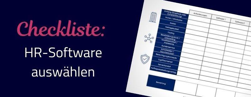 Checkliste – Auswahl der HR-Software